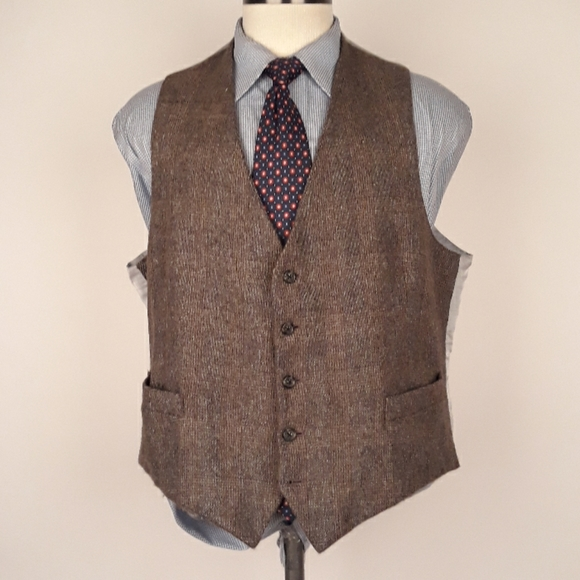 Freeman's Sporting Club Other - FREEMANS SPORTING CLUB Brown Tweed Mens Sz XL Vest